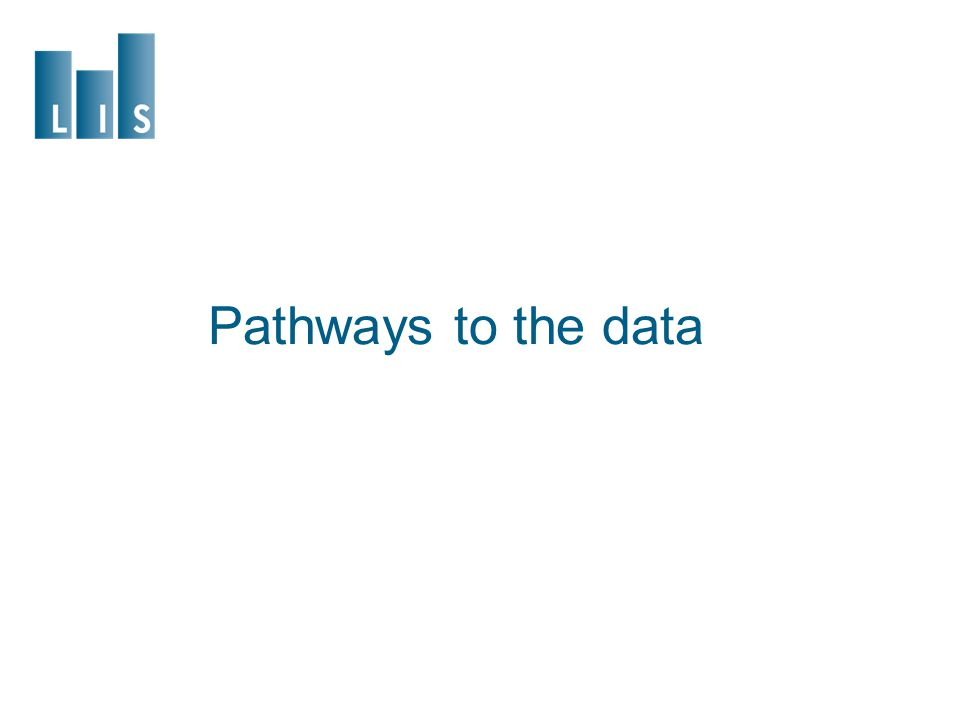 Pathways to the data