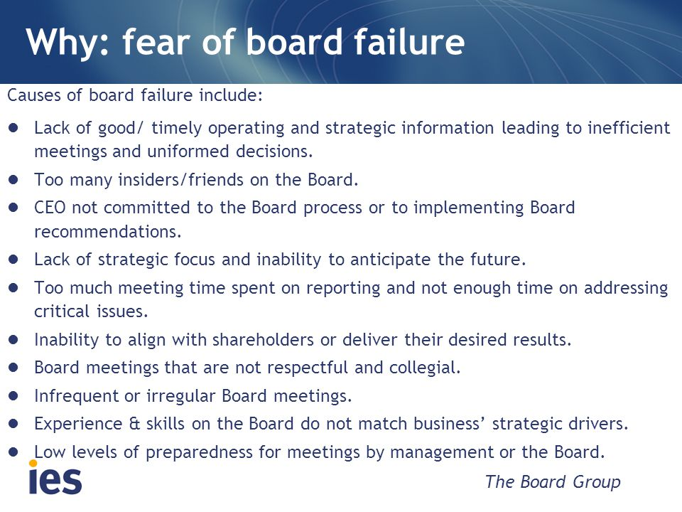 An example of board failure HIH (an Australian insurance company) heading for a fall