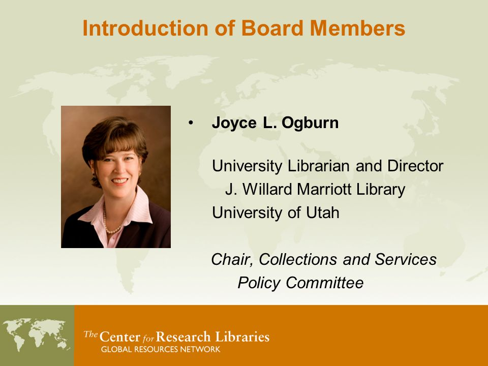 Joyce L. Ogburn University Librarian and Director J.