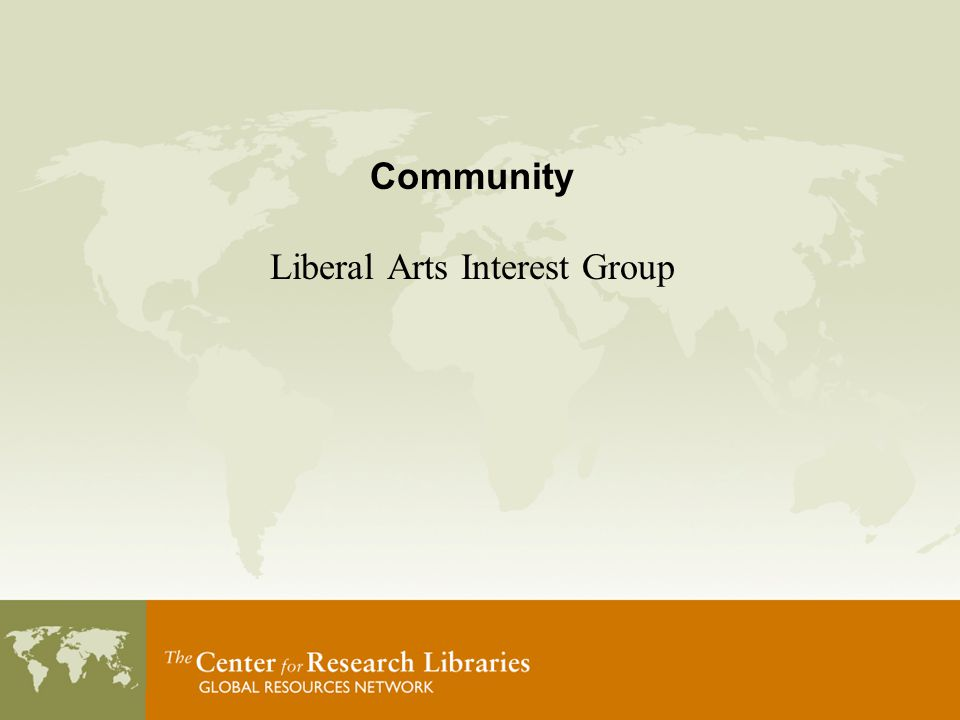 Community Liberal Arts Interest Group