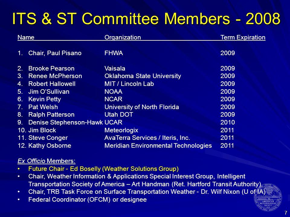8 Energy Committee Members - 2008 NameOrganizationTerm Expiration 1.Chair, Jon DavisChesapeake Energy2010* 2.Josh DarrChesapeake Energy2009 3.Dave ChangnonNorthern IL University2009 4.Adam StevensVelite Capital (prev.
