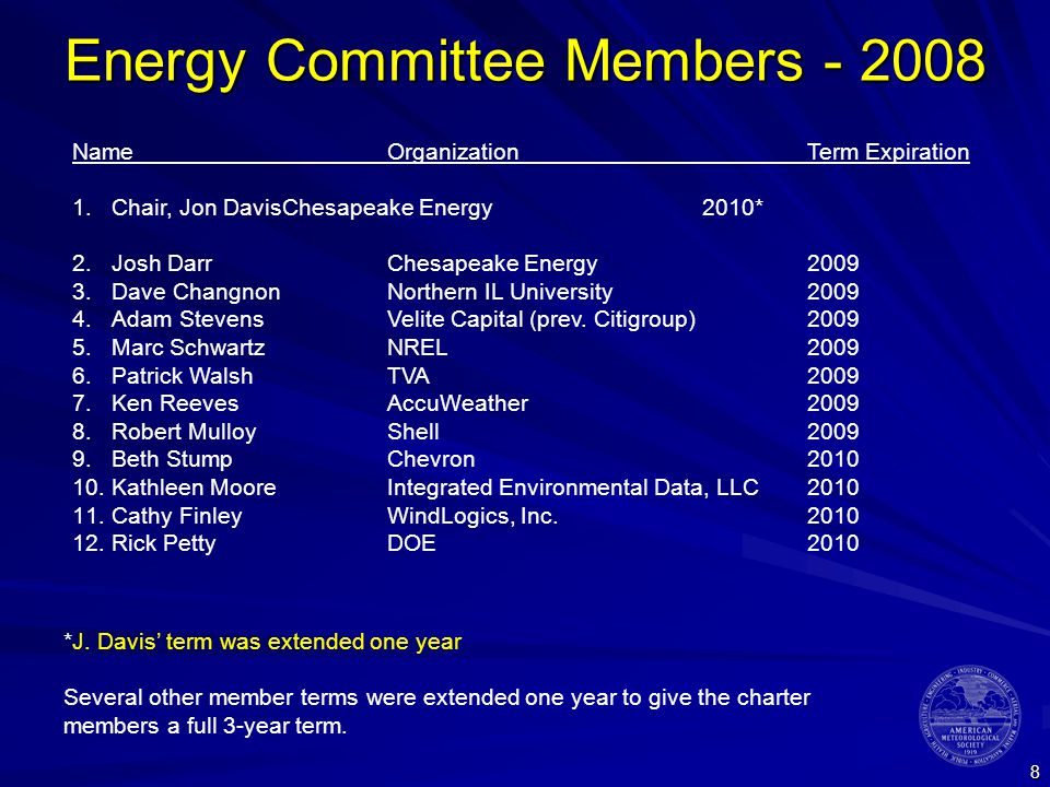 9 Water Resources Committee Members - 2008 NameOrganizationTerm Expiration 1.Chair, John HenzHDR Engineering, Inc.2011 2.New Member - 20082010 3.New Member - 20082010 4.New Member - 20082010 5.New Member - 20082010 6.New Member - 20082011 7.New Member - 20082011 8.New Member - 20082011 9.New Member - 20092012 10.New Member - 20092012 11.New Member - 20092012 12.New Member - 20092012 New members will be drawn from across the enterprise, ensuring representation from all sectors: government/agency, industry/commercial and academia/labs
