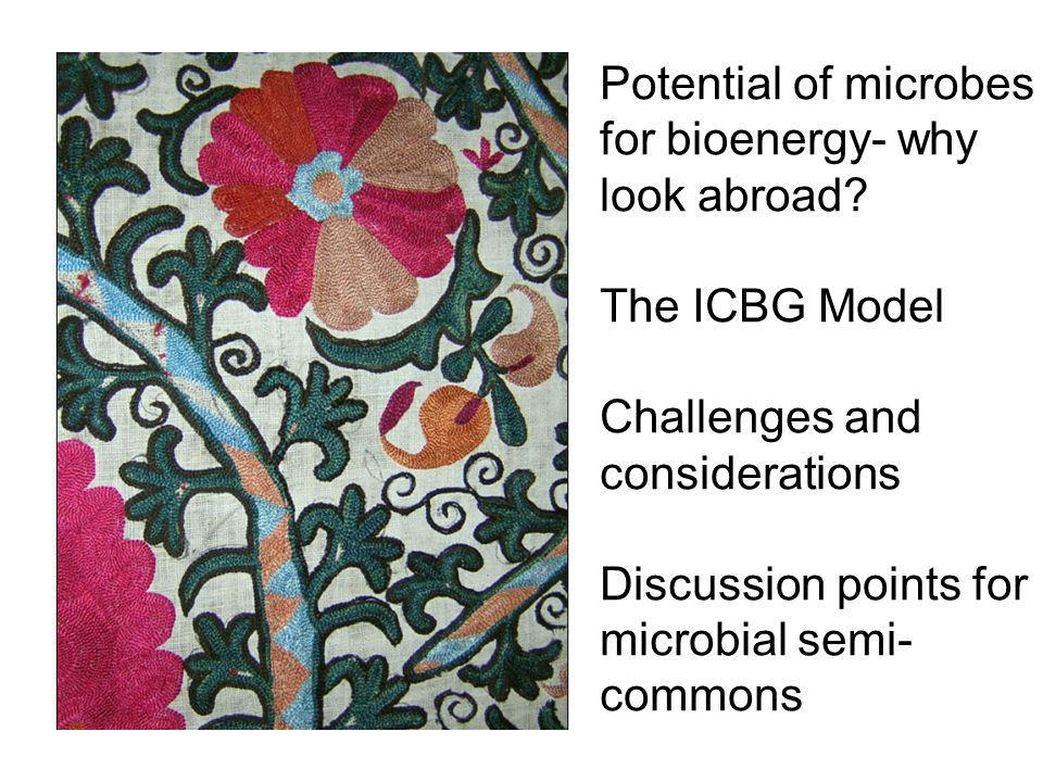Potential of microbes for bioenergy- why look abroad.