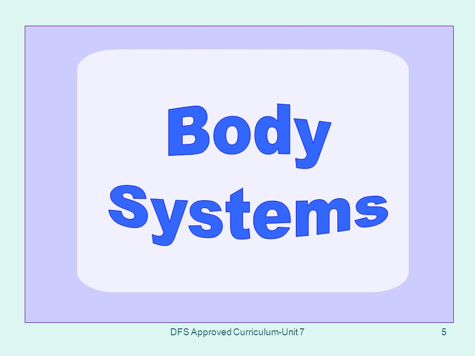 DFS Approved Curriculum-Unit 7106 7.6.3List observations relating to the digestive system.