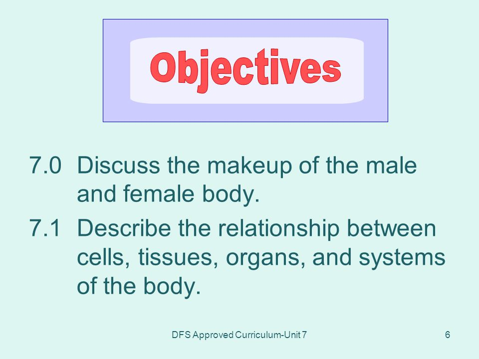 DFS Approved Curriculum-Unit 7117 7.7.2Discuss common disorders of the urinary system.