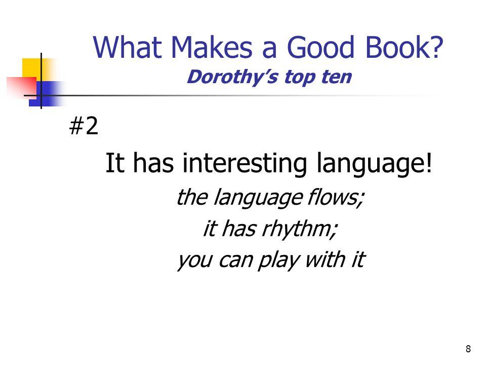 19 What Makes a Good Book.