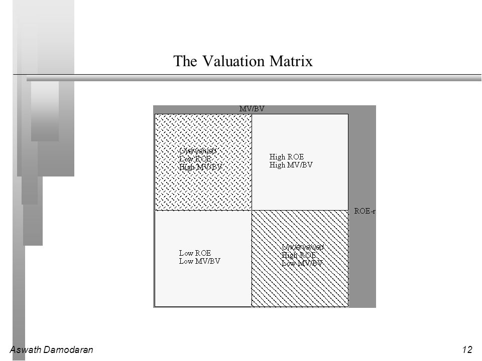 Aswath Damodaran12 The Valuation Matrix