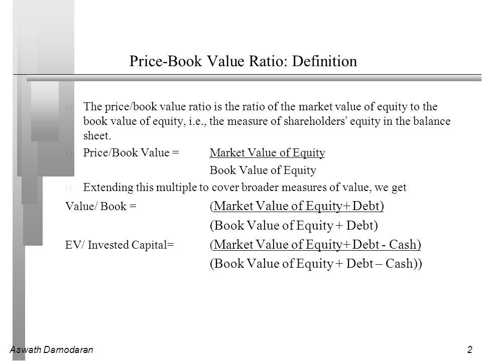 Aswath Damodaran3 Book Value Multiples: US stocks – January 2011