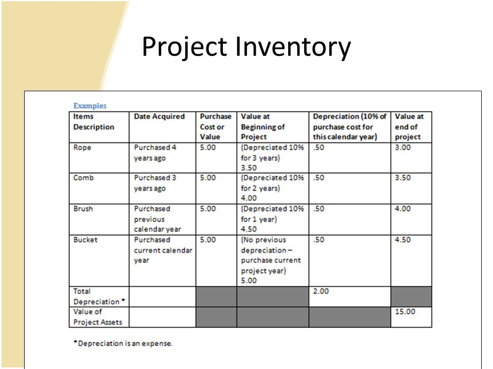 Project Inventory