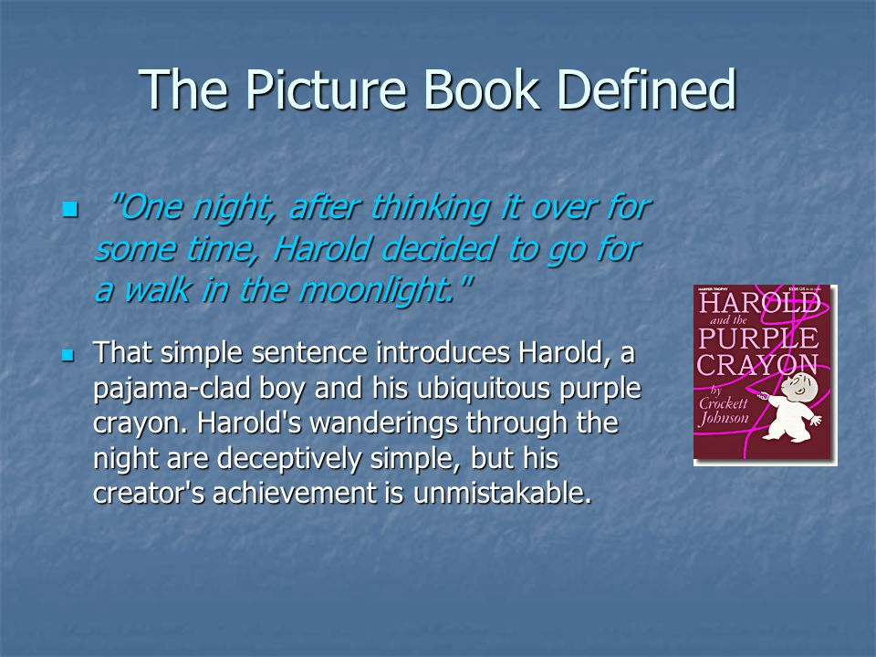 The Picture Book Defined