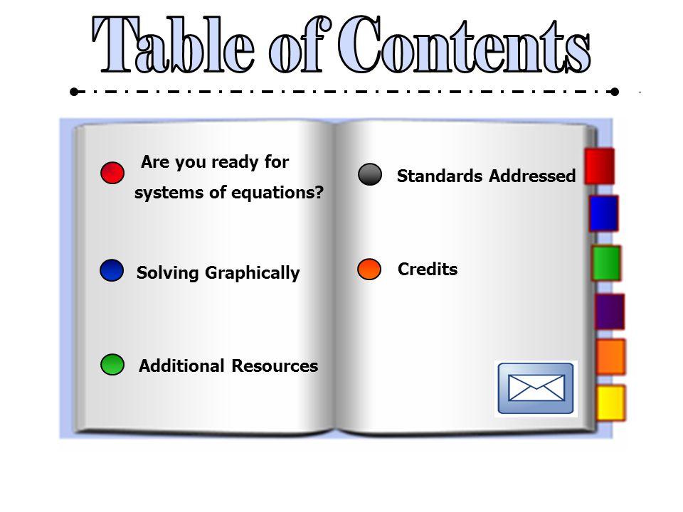 Systems of Equations Sasha Merkel ITC 525 Summer Session I 2010 Contact Me