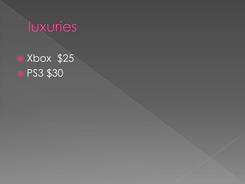  Xbox $25  PS3 $30