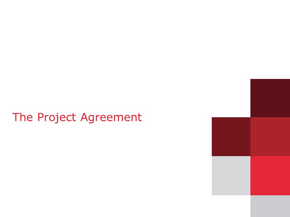 23 The Project Agreement