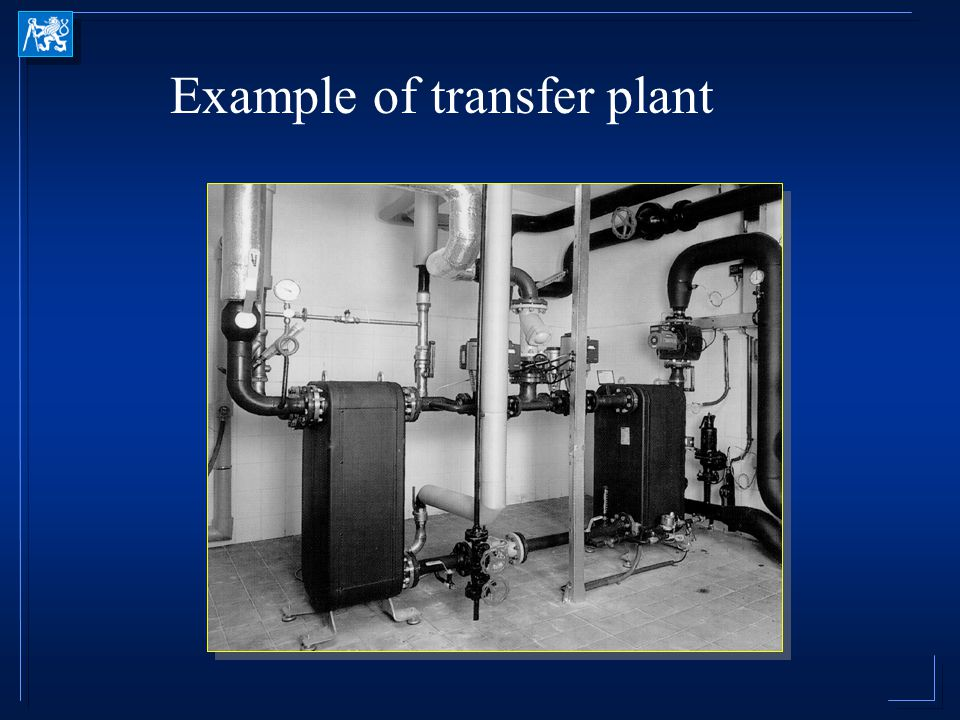 Example of transfer plant