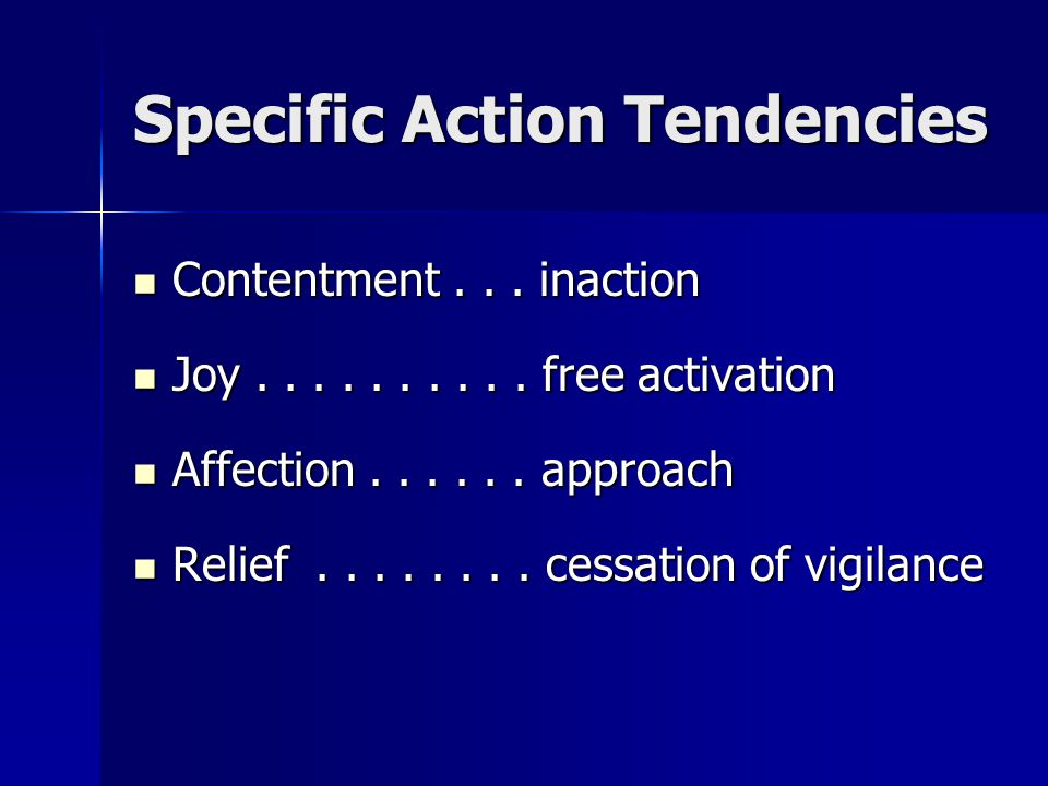 Specific Action Tendencies Thought–Action