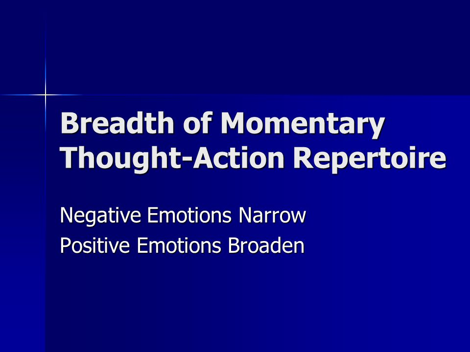 Positive Affect Transforms People
