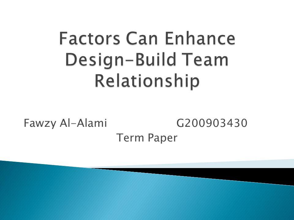 Fawzy Al-Alami G200903430 Term Paper