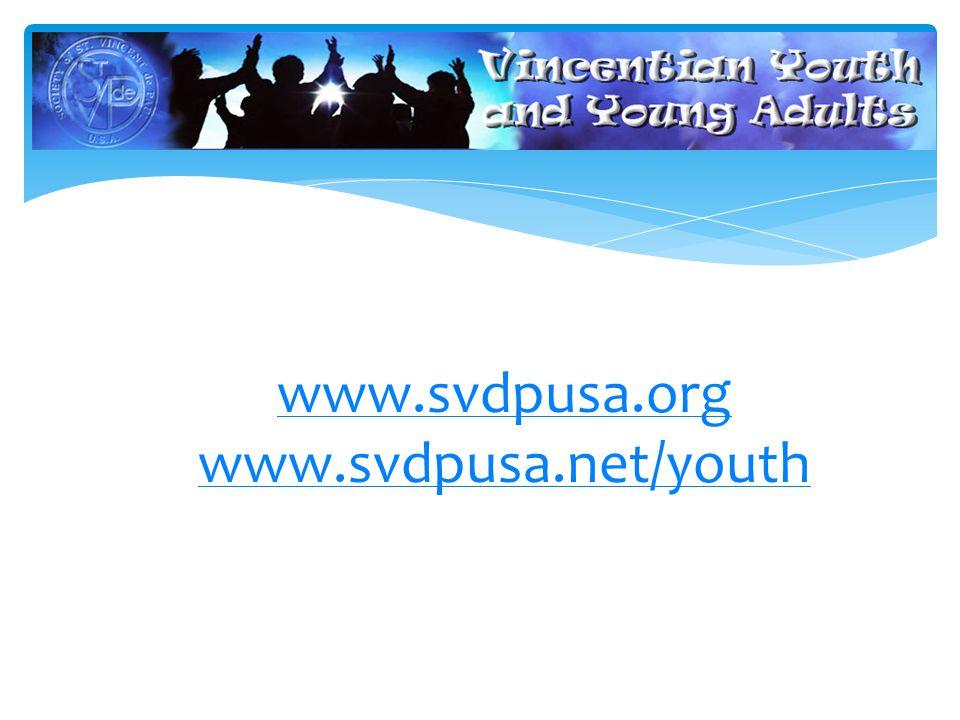 www.svdpusa.org www.svdpusa.net/youth