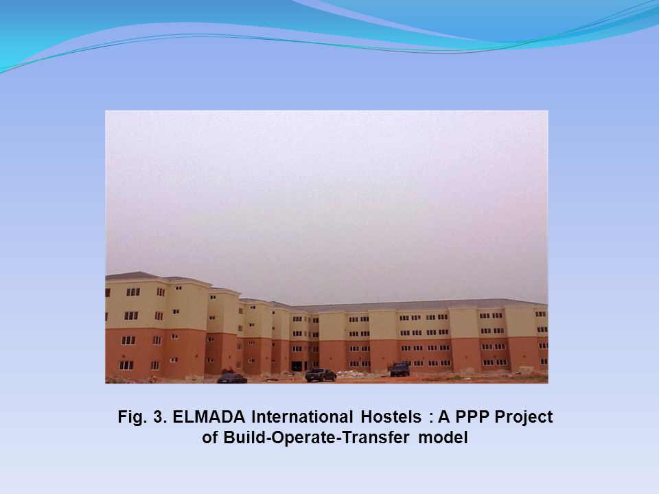 Fig. 3. ELMADA International Hostels : A PPP Project of Build-Operate-Transfer model