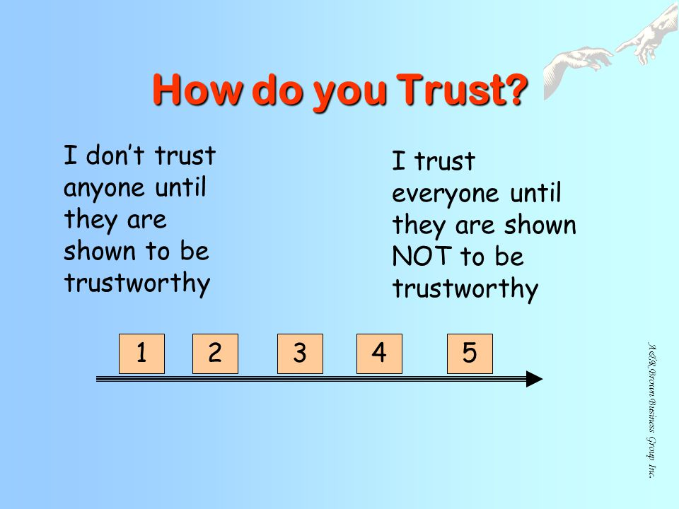 A&R Brown Business Group Inc.How do you Trust.