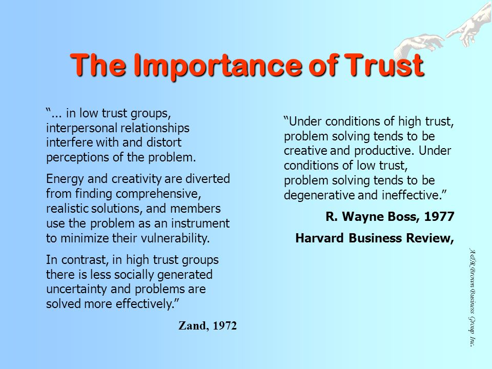 A&R Brown Business Group Inc.The Importance of Trust ...
