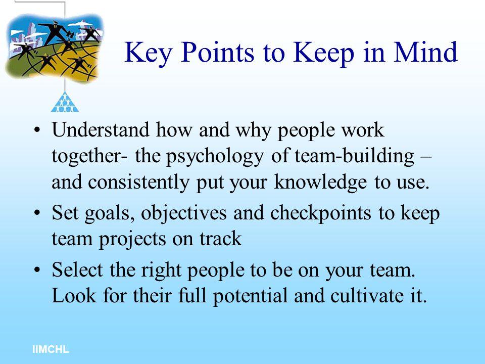 IIMCHL Worksheet for Team-Building