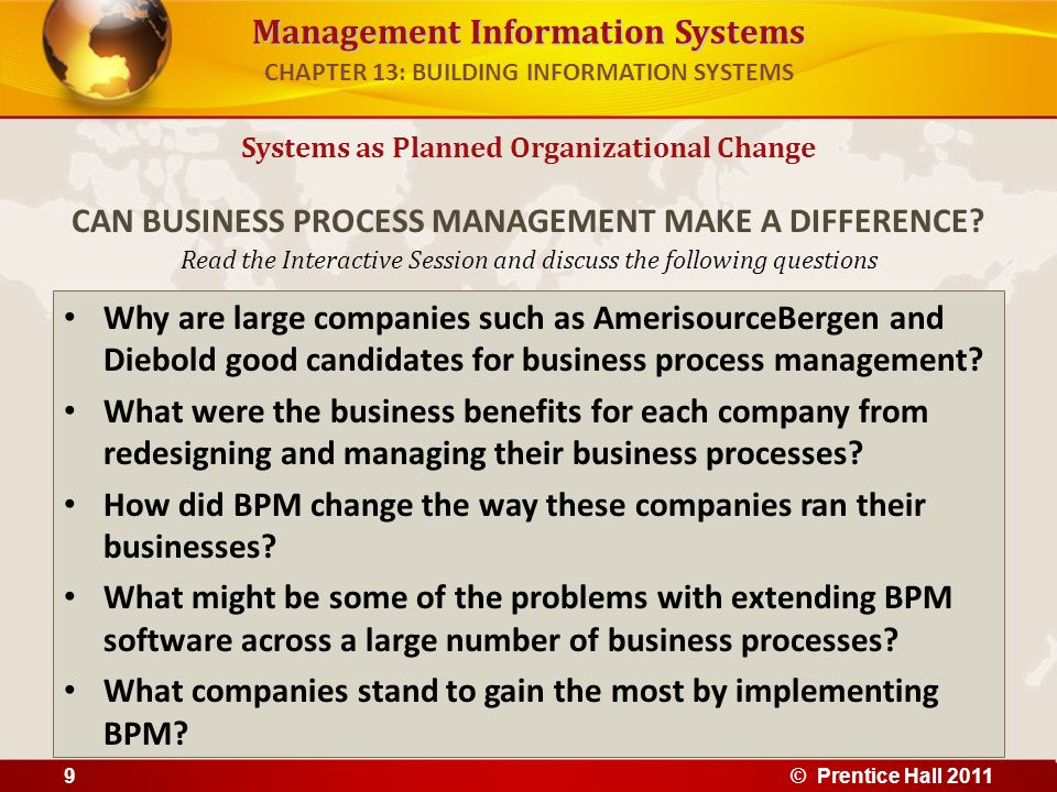 Management Information Systems Read the Interactive Session and discuss the following questions Why are large companies such as AmerisourceBergen and