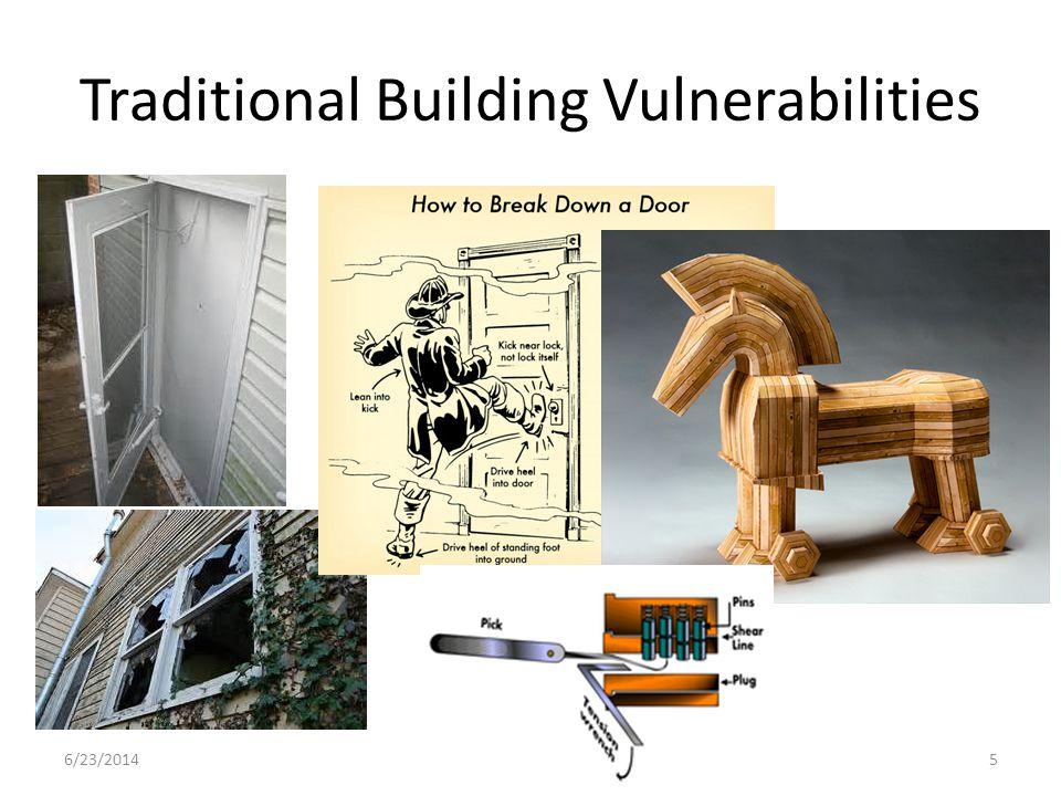 Traditional Building Vulnerabilities 6/23/20145