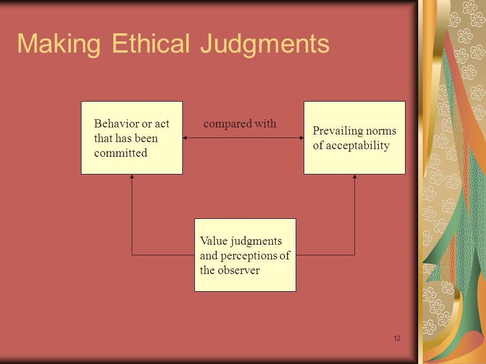 11 Ethics and the Law Law often represents an ethical minimum Ethics often represents a standard that exceeds the legal minimum EthicsLaw Frequent Overlap