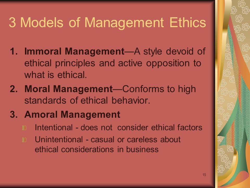 14 Four Important Ethical Questions What is.What ought to be.