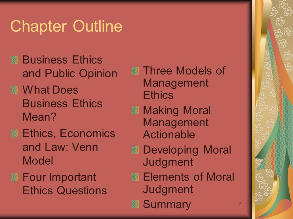 1 1 Business Ethics Fundamentals MGT 3800 Chapter 6