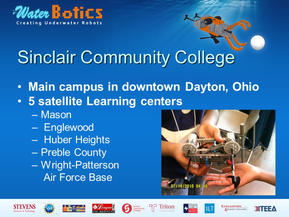 Main campus in downtown Dayton, Ohio 5 satellite Learning centers –Mason – Englewood – Huber Heights –Preble County –Wright-Patterson Air Force Base
