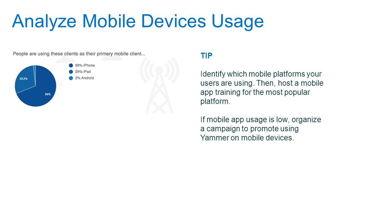 Analyze Mobile Devices Usage TIP Identify which mobile platforms your users are using.