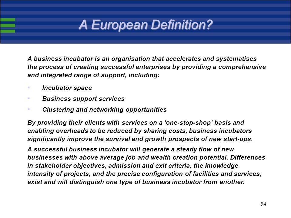 54 A European Definition.