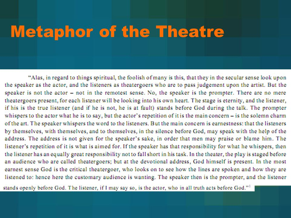 Metaphor of the Theatre