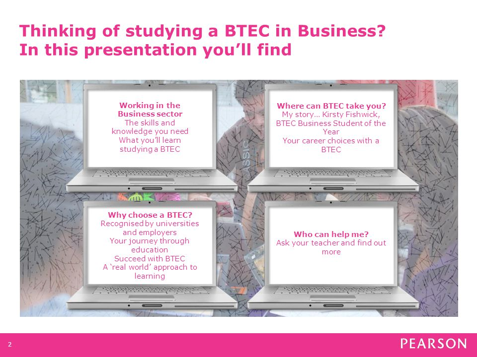 Web Analyst Accountant Project Manager Marketing Manager BTEC Business opens doors to careers as...