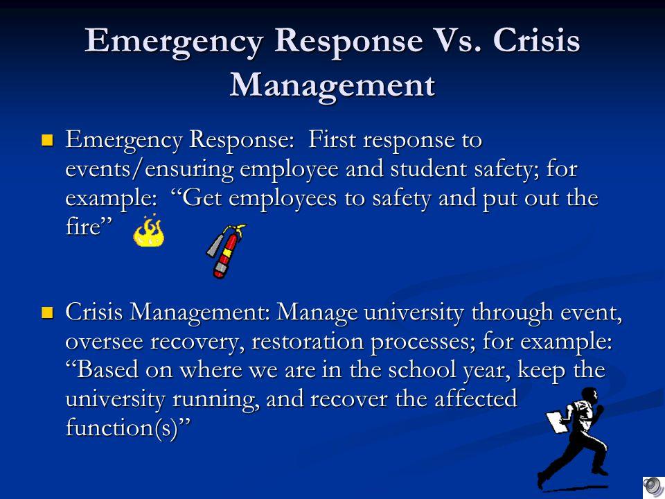 Emergency Response Vs.