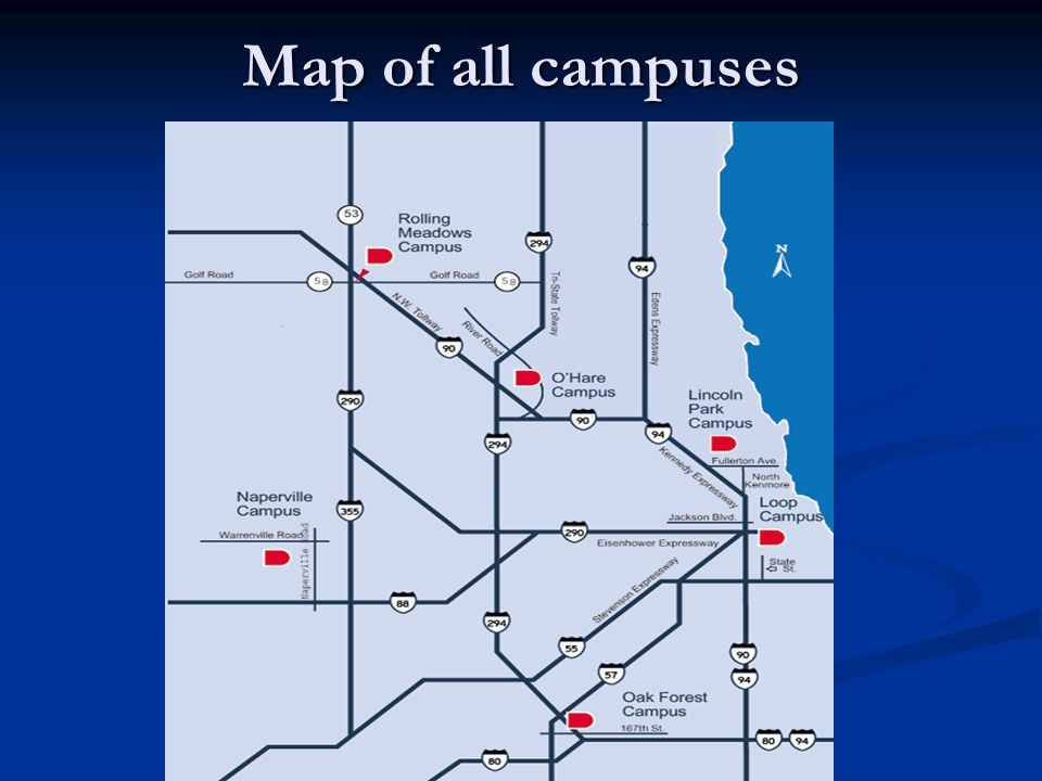Map of all campuses