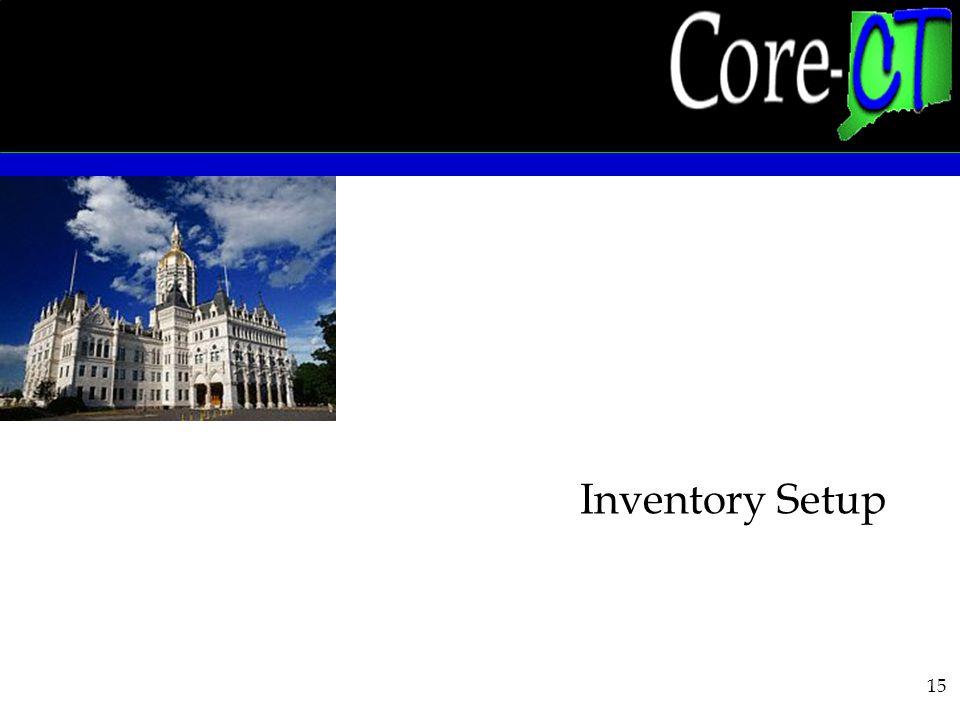 15 Inventory Setup