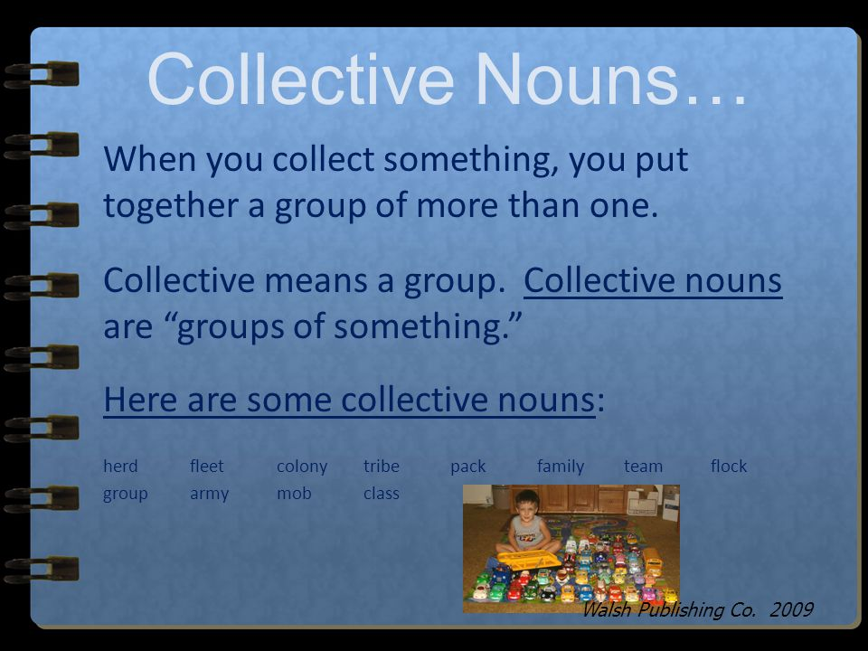 Collective Nouns… Walsh Publishing Co. 2009