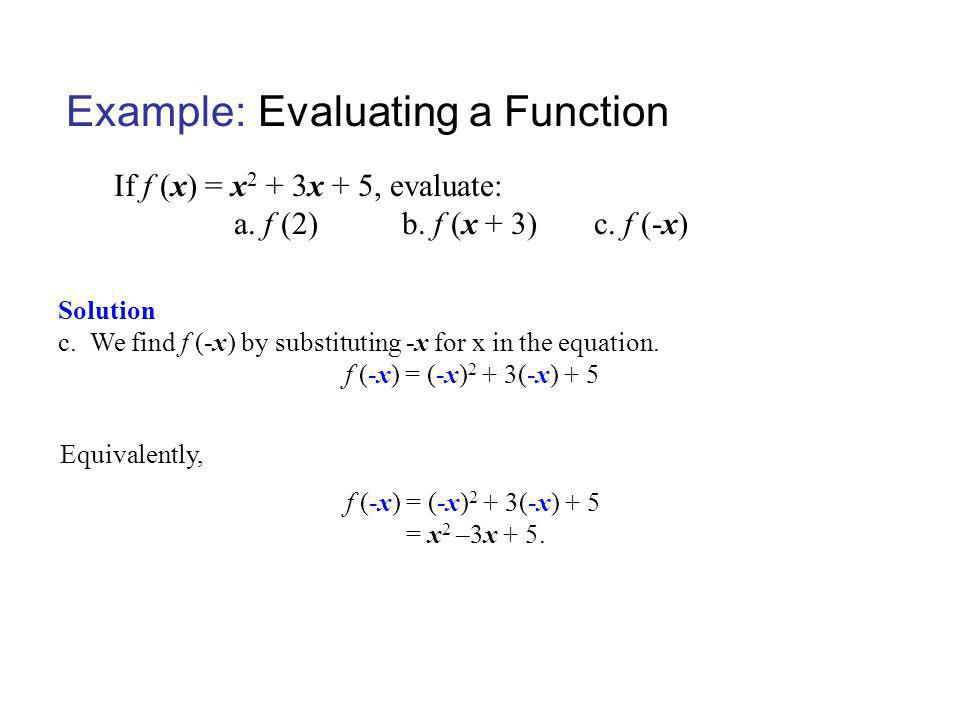Finding a Function's Domain If a function f does not model data or verbal conditions, its domain is the largest set of real numbers for which the value of f (x) is a real number.