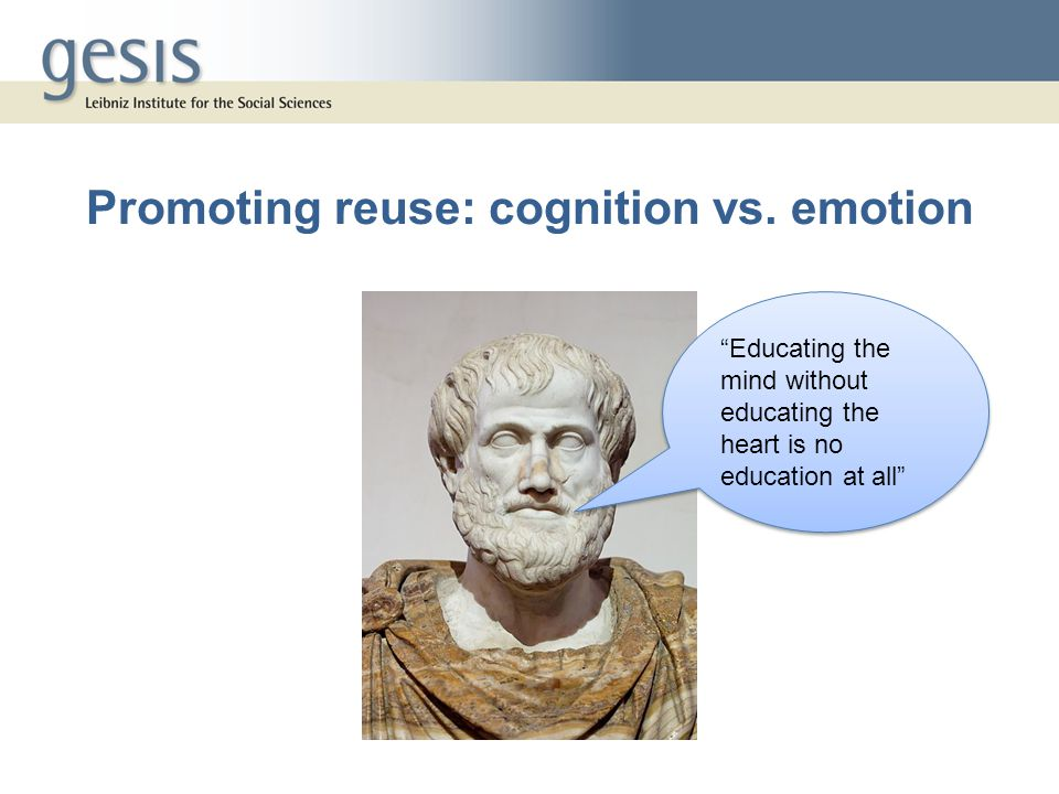 Promoting reuse: cognition vs.