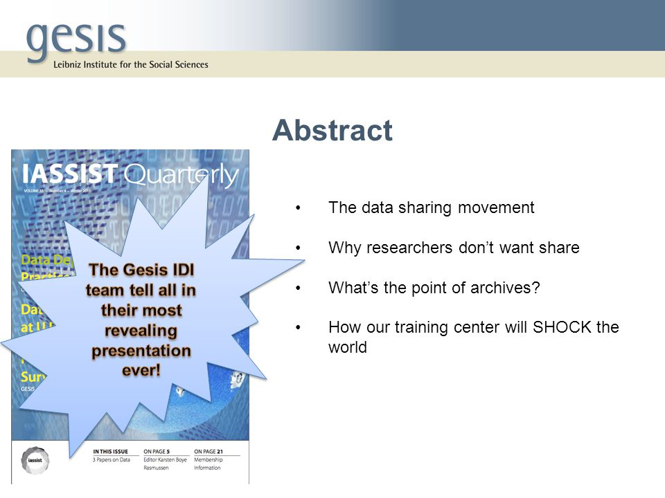 The data sharing movement