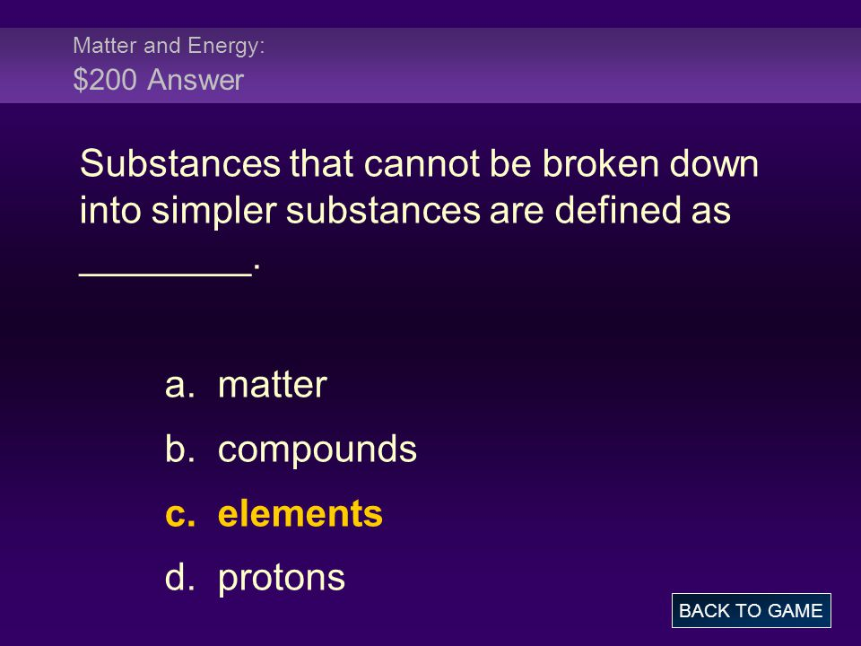 Matter and Energy: $300 Question Energy in action is defined as _______ energy.