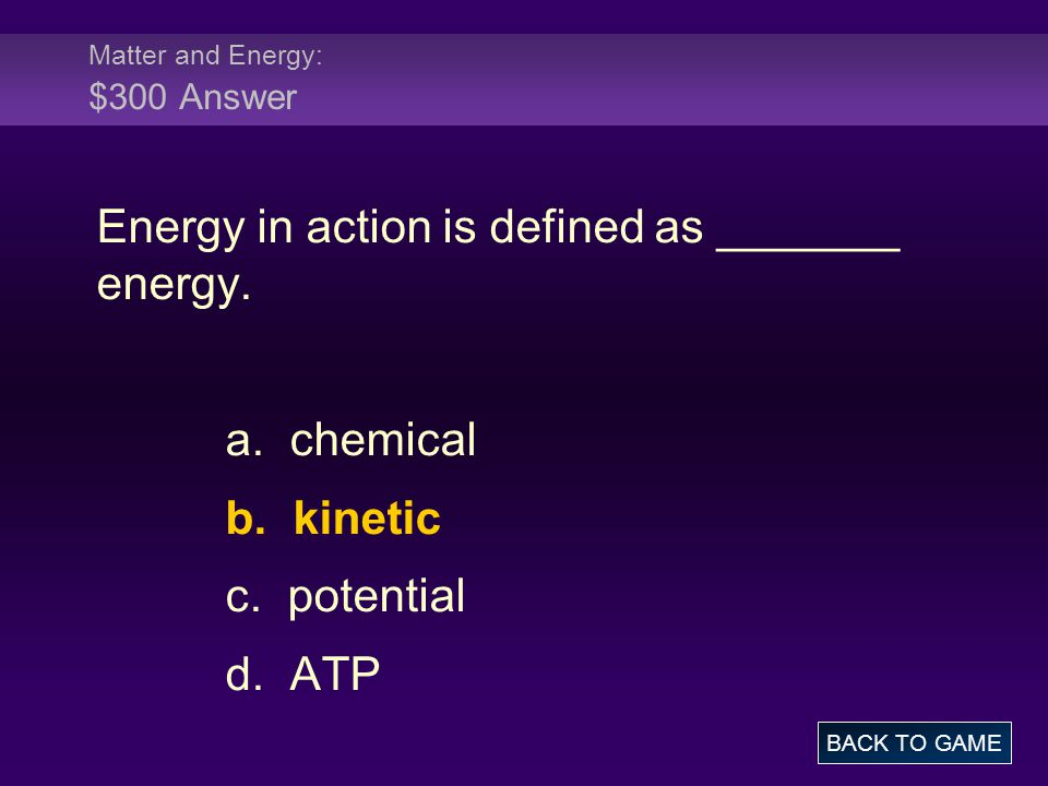 Atoms: $400 Question If an atom gains an electron, the resulting charge of that atom is more _________.