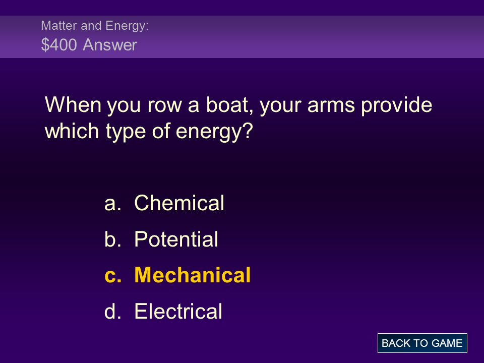 Molecules: $500 Question Which of the following statements is true of solvents.