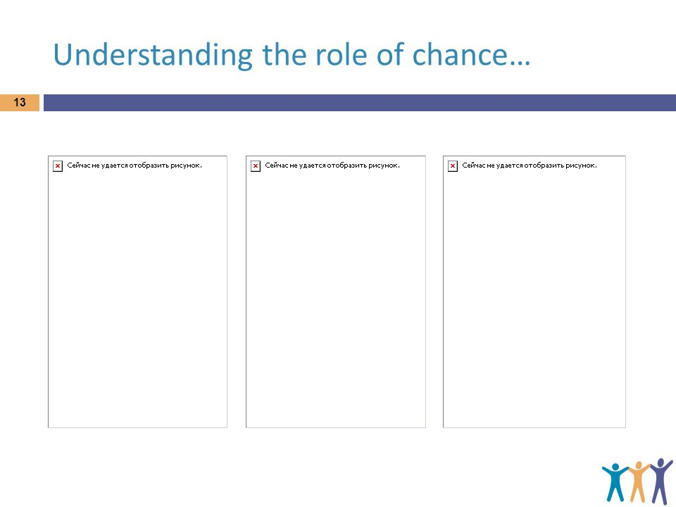 Understanding the role of chance… 13