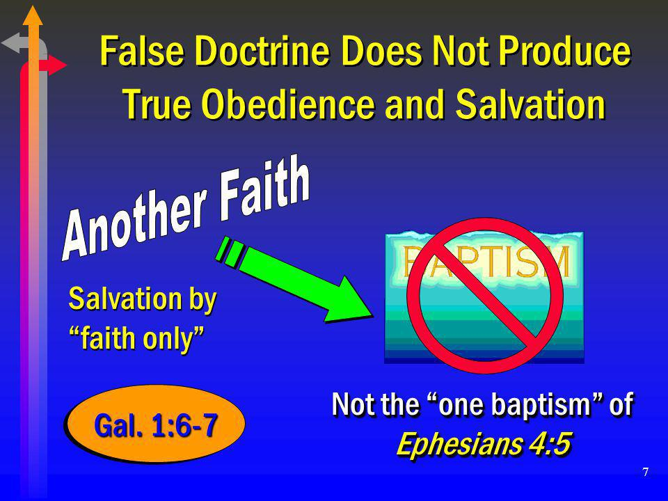 18 CHRIST'S AUTHORITY FOR BAPTISM Christ is Not Divided (1 Cor.