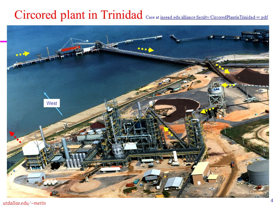 utdallas.edu/~metin 4 Circored plant in Trinidad Case at insead.edu/alliance/faculty/CircoredPlantinTrinidad-w.pdf West