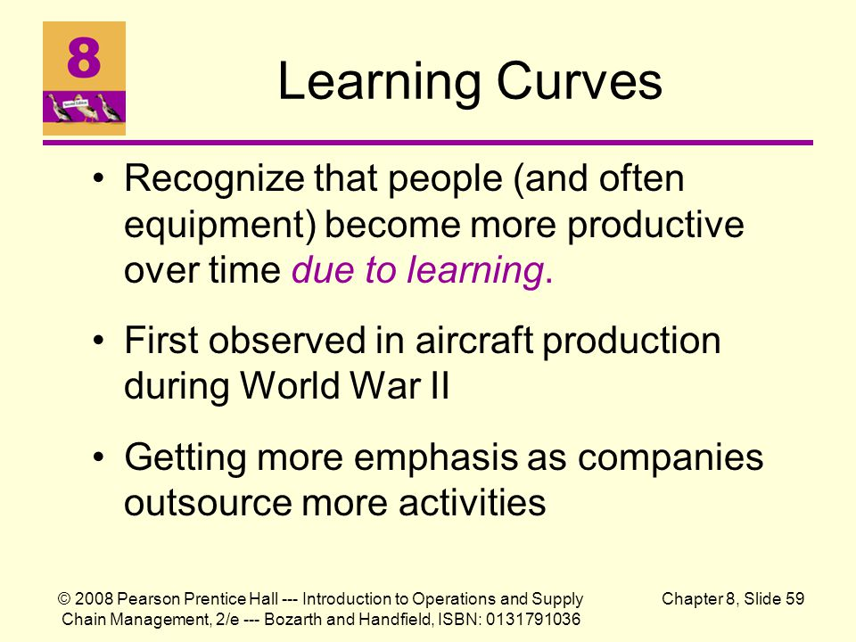 © 2008 Pearson Prentice Hall --- Introduction to Operations and Supply Chain Management, 2/e --- Bozarth and Handfield, ISBN: 0131791036 Chapter 8, Sl